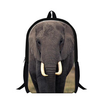 2015 New Trendy Teenager Boys School Backpacks 3D Big Animal Elephant Backpack Men S Outdoor Traveling