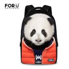 Forudesigns прохладный животных печати рюкзак для молодежи мальчики, мужчины женщины большие туристические рюкзаки, подростков собака дизайнер bagpack