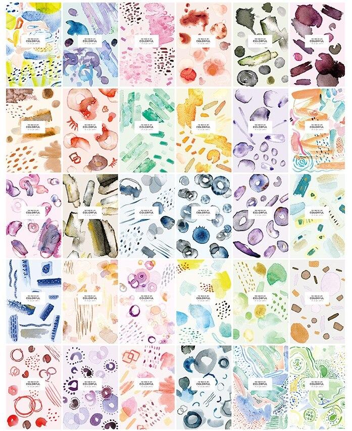 AEMX1-14.3cm*9.3cm colorful light paper postcard(1lot=6pieces)