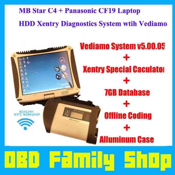US $845 99 |CF19 + MB Star C4 SD Connect + HDD Xentry Diagnostics System  Compact 4 Mercedes Diagnosis Multiplexer For Benz Diagnose-in Car  Diagnostic