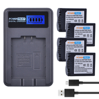 PowerTrust 4Pcs CGA S006 CGA S006E S006A S006 DMW BMA7 Battery + LCD USB Charger for Panasonic DMC FZ7 FZ8 FZ18 FZ28 FZ30 FZ35