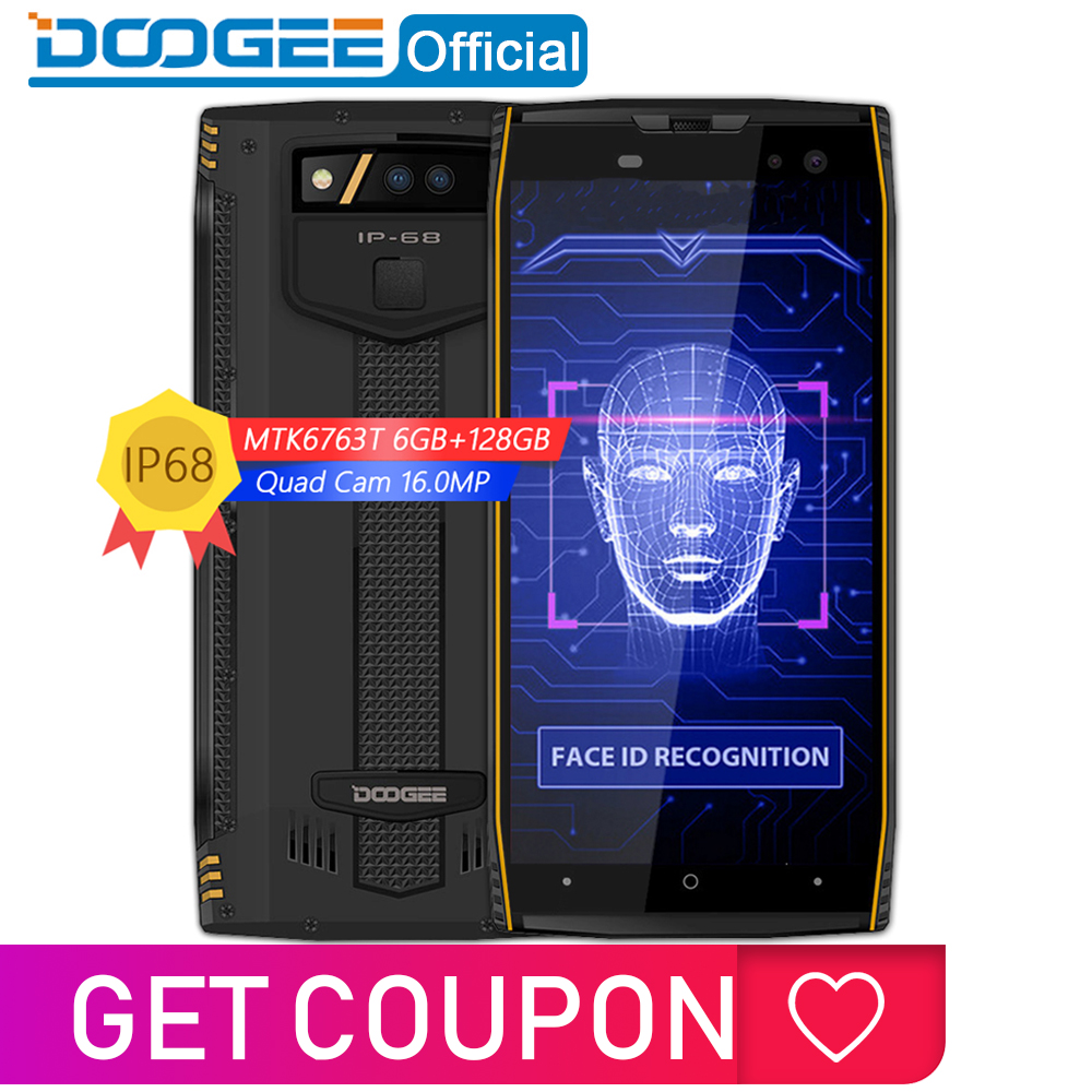 Mobile Phones Apprehensive Ip68 Waterproof Doogee S50 6gb 128gb Smartphone 5180mah Fast Charge 18:9 5.7 Mtk6763t 2.5 Ghz Octa Core 16.0mp Quad Cameras Long Performance Life