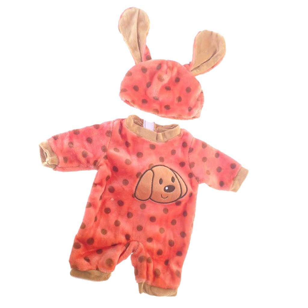 Populer Indah Bayi Baru Lahir Boneka Dicetak Jumpsuit Cocok untuk 50 Cm Reborn Boneka Aksesoris Pakaian Set