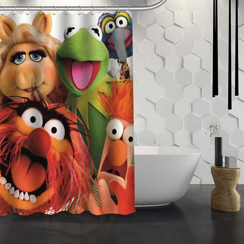 Hot Sale Custom Muppets Shower Curtain Waterproof Fabric Shower Curtain for Bathroom F#Y1-17