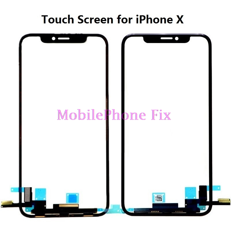 Replacement For <font><b>iPhone</b></font> <font><b>X</b></font> Ten Touch Screen Sensor Digitizer Touch Panel <font><b>Glass</b></font> With Digitizer <font><b>Repair</b></font> Replacement Parts image