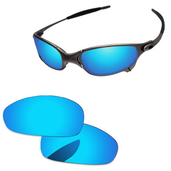 776eaca917 Azul hielo espejo polarizado lentes de recambio para Juliet. gafas de sol  marco 100% UVA y UVB protección