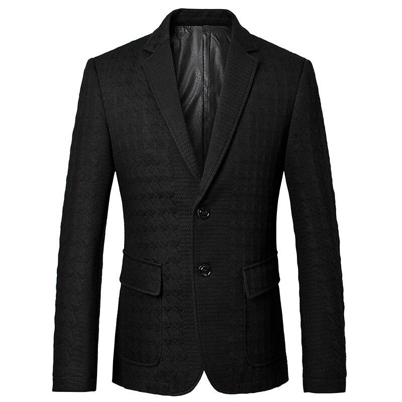 2017, Новая мода Повседневное Для мужчин Блейзер шерсти Тиснение Стиль мужской костюм Blaser masculino мужской Костюмы Куртка Блейзер Для мужчин плю
