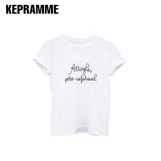 Lettera Magliette Di Bianco Shirt E Camicette Stampa Spagnolo T Nero D2EH9I