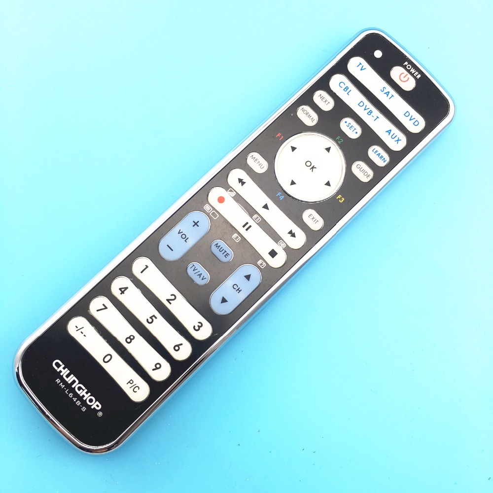 Chunghop Combinational remote control learn remote FOR TV SAT DVD CBL DVB-T AUX universal controller with code RM-L648-S chunghop rm l199 30 key multifunction study remote controller green beige