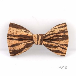 RBOCOTT Cork Wood Bow Tie Wooden Bow Ties Men's Novelty Handmade Solid Bowtie For Men Wedding Party Accessories Neckwear 3