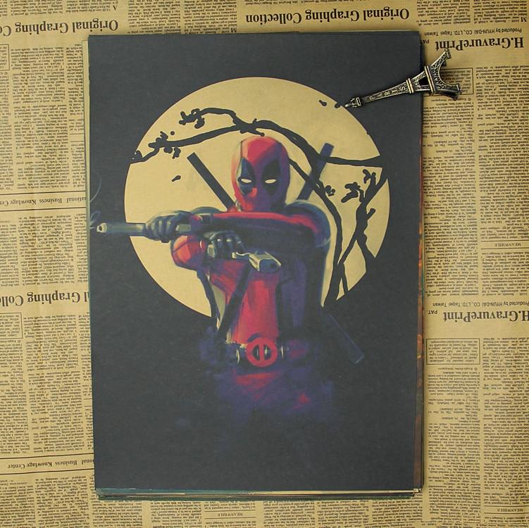 Deadpool Poster / Marvel superhjälte dekoration målning - Heminredning - Foto 3