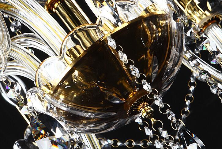 Անվճար առաքում 18 Arms 100% K9 Gold Crystal Luxury Big - Ներքին լուսավորություն - Լուսանկար 6