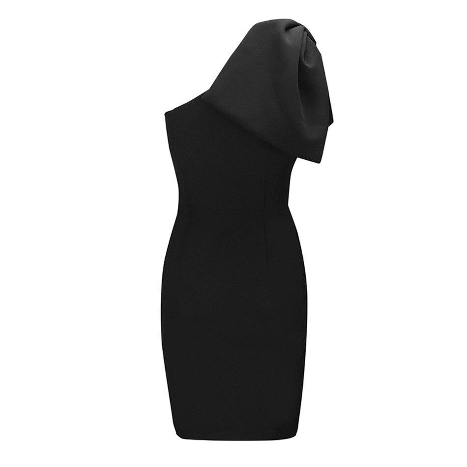 2019 moda Bandag vestido Sexy para mujer noche Club noche fiesta manga inclinada hombro bolsa cadera cuerpo con vestidos al por mayor - 6