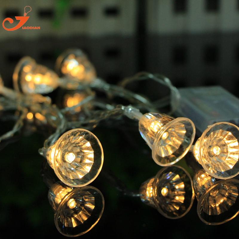 campana feliz rbol de navidad linterna de jardn cadena de luces con pilas de iluminacin home