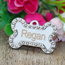 Custom Engraved Pet Dog Tags Personalized Cat Puppy ID Name Collar Tag  Bone Paw Collar Accessories Anti-lost Stainless Steel