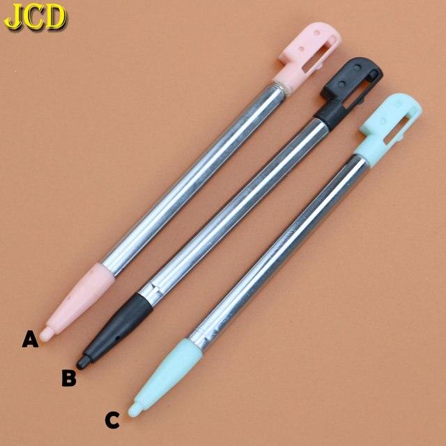 JCD 1 sztuk 3 kolor chowany metal rysik do ekranu dotykowego zestaw długopisów dla Nintend dla Nintend DS Lite NDSL akcesoria do gier
