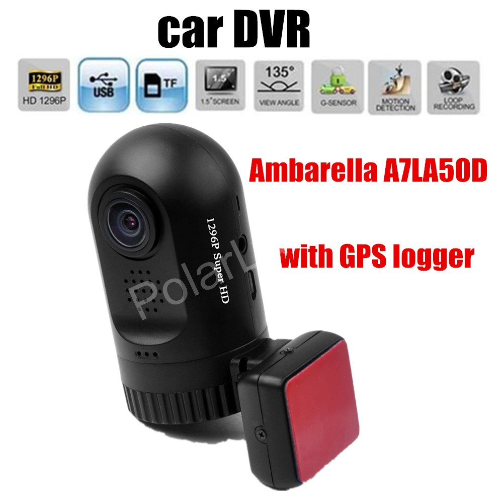 best price Mini 0805 Car DVR Full HD Video Recorder Ambarella A7LA50D with GPS logger Night Vision Mini DVR Camera junsun ambarella a7 car dvr camera video recorder full hd 1080p 60fps speedcam with gps logger night vision dash cam registrar