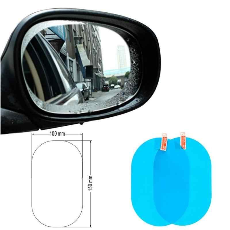 2x/4x temizle araba yan dikiz aynası koruyucu filmler pencere arka görünüm ayna Anti sis yağmur geçirmez filmler oto aksesuarları Dropship