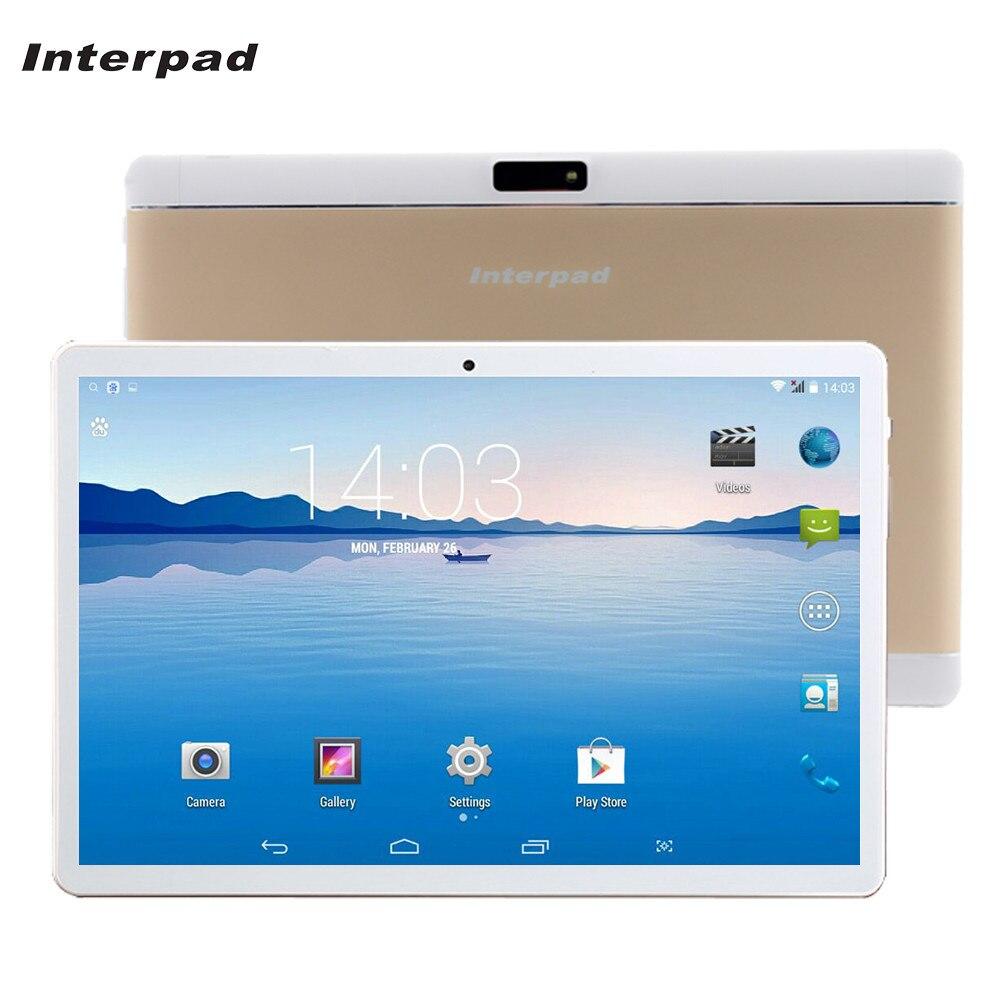 Interpad 3G Téléphone Comprimés 10 pouce Quad Core Android tablet IPS Écran MTK6582 WIFI 2 GB RAM 16 GB ROM GPS Marques Tablet pc 10.1 9