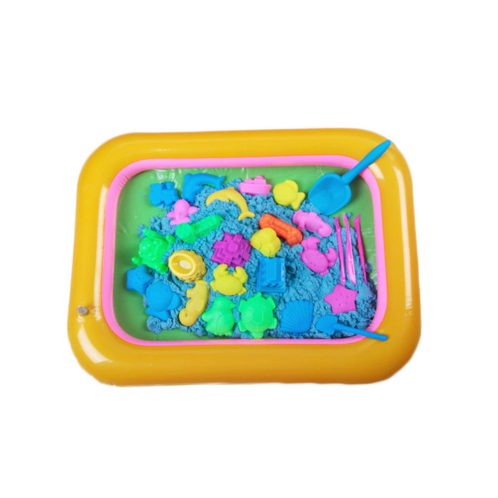 Indoor Magic Play Sand Children Toys Mars Space Inflatable Sand Tray Accessories Plastic Mobile Table