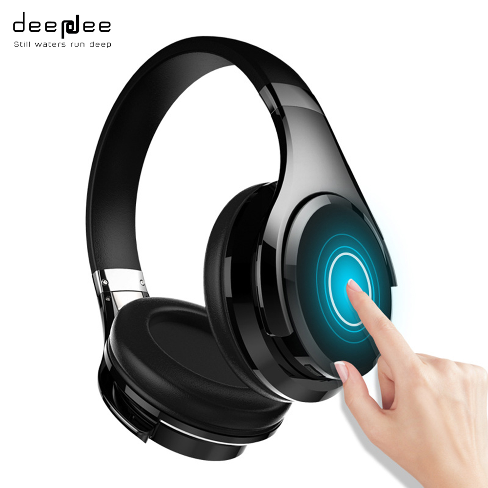 DEEPDEE Slide Touch Control Bluetooth Wireless Headphone Portable Deep Bass Stereo HIFI Music Headset with Built-in Microphone дозатор blanco 510769 tiga хром