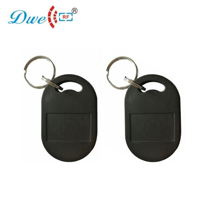 Купить с кэшбэком DWE CC RF access control cards abs 100pcs rfid 125khz tk4100 waterproof  key tag rf id door keyfobs