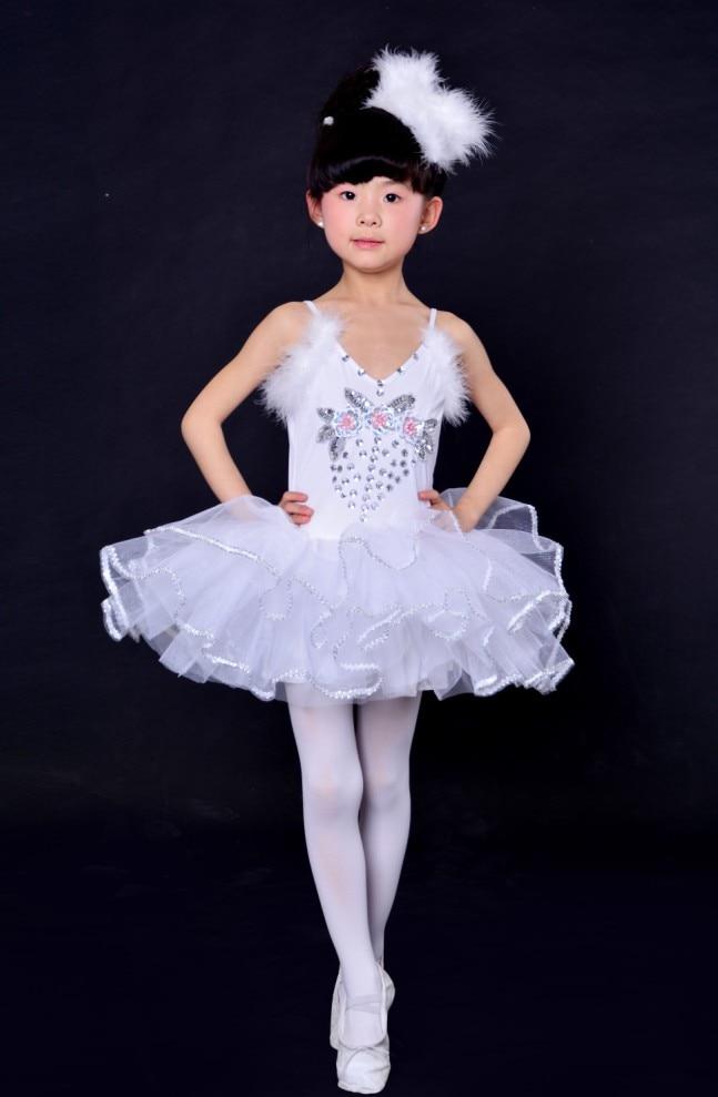 7c5db54be1 Professional Girls Ballet Dancing Dress White Swan Lake Costume Ballerina  Dress Kids Ballet Dress Children Ballet Tutu