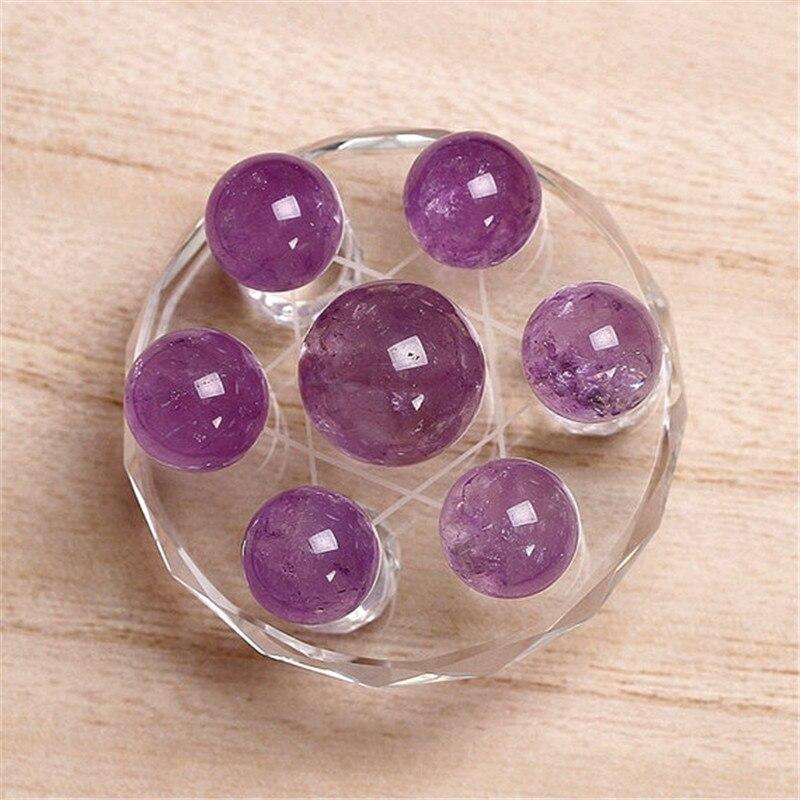 Natural amethyst quartz Crystal gemstone sphere grid seven star array meditation reiki healing chakra purple crystal ball