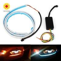 LED Strip Trunk Light With Side Turn Signals Rear Lights Car Braking Light For BMW Car