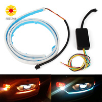 LED Strip Trunk Light With Side Turn Signals Rear Lights Car Braking Light For BMW Car