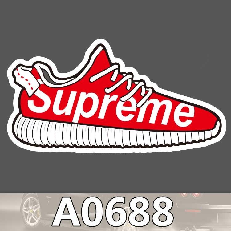 BevleFans Store A0688 Supreme Tide Brands Shoes Waterproof Sticker Cool Laptop Luggage Fridge Skateboard Graffiti Notebook Stickers