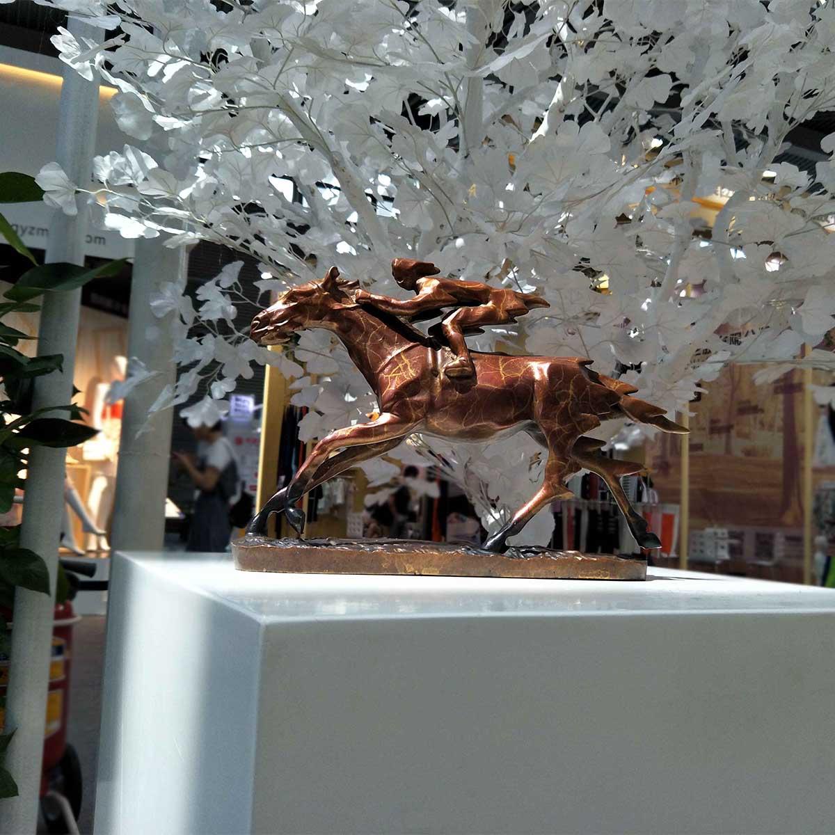 Оригинальный дизайн животных скачки современный Скульптура бронза Скульптура декоративные аксессуары для дома номер животного Скульптур
