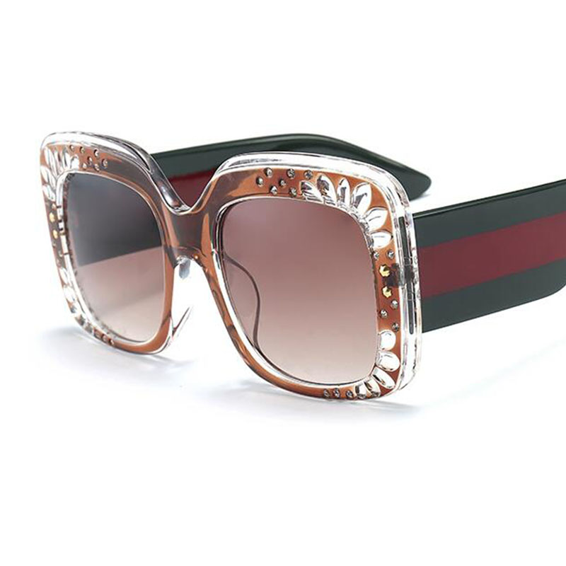 b08b8149c2fda7 Oversized Rhinestone Sunglasses Women luxury brand shades big frame ladies  2018 new trendy sunglasses lunette de soleil femme-in Sunglasses from  Apparel ...