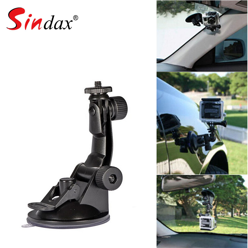 Car Suction Cup Mount Holder Car Camera DV DVR Tachograph Bracket Stand With 1/4 Standard Screw For Sports DV DVR GPS Holder