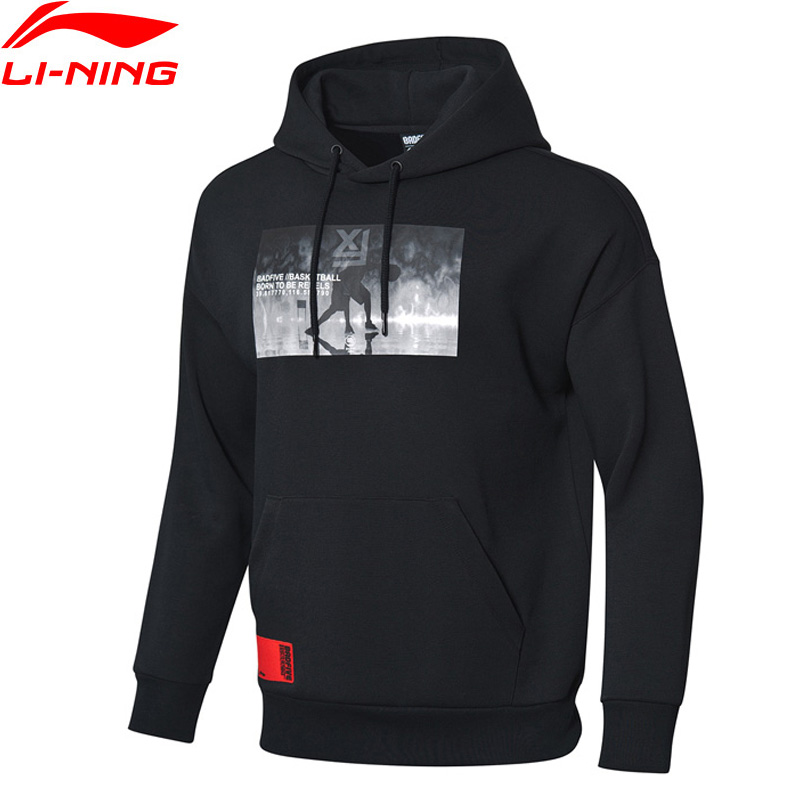 Li-Ning Men BAD FIVE Basketball Sweater 66% Cotton 34% Polyester LiNing Li Ning Sports Hoodies Loose Fit Sweater AWDP053 MWW1535