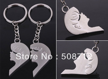 "Free ship!!! 20pairs/lot ""Intimate lovers"" Lovely couple of key Chain keyring keyfob lover valentine gift"