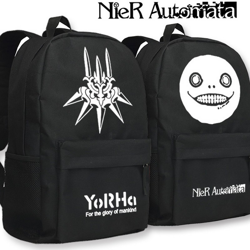 MeanCat NieR Automata Original Soundtrack Weight Of The World School Backpack Laptop Bags with Fluorescence at Night : 91lifestyle