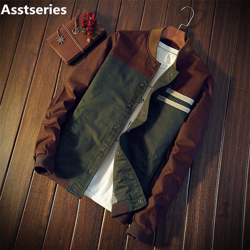 Осенняя Корейская мужская куртка новая Cultivate one's morality короткая заметка подбора цвета воротник куртки мужчины бейсбольная форма M-5XL