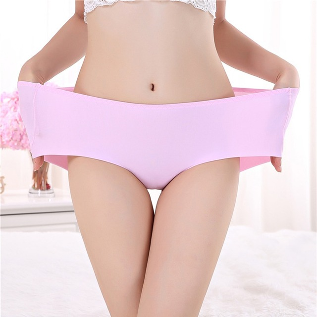 Pink Seamless Lingerie Mid-Rise Push Up Underwear