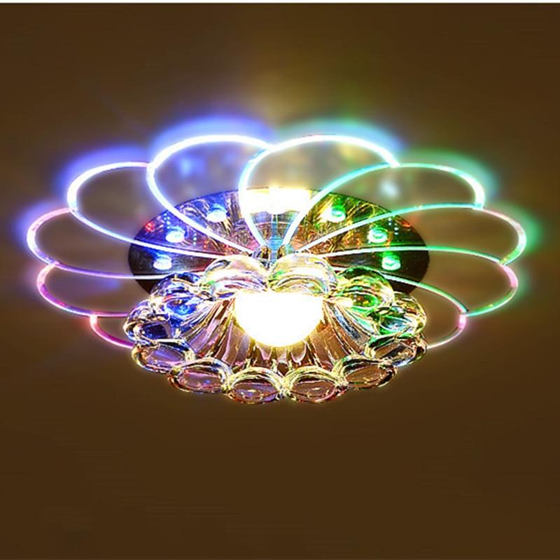 Neue LED Kristall Ganglichter Flurbeleuchtung Veranda Lampe Decke Wohnzimmer Dekorative Lampen Moderne Acryl In