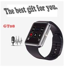 2016 tragbare geräte smart watch android bluetooth verbinden uhr armbanduhr unterstützung sim-karte telefon smartwatch gt08 f69