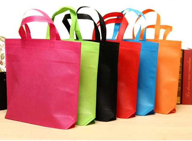 420ac807193 SIZE  36 45cm, Colorful non-woven fabrics bag pack Big clothes shopping bags  with handle 15pcs lot