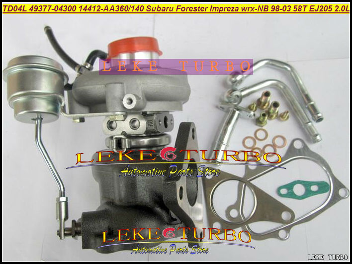 Free Ship Turbo TD04L 49377-04300 14412-AA360 14412-AA140 14412AA360 For SUBARU Forester Impreza WRX-NB 1998-03 58T EJ205 2.0L free ship turbo cartridge chra for subaru forester impreza 1997 58t ej20 ej205 2 0l td04l 49377 04200 14412 aa140 turbocharger