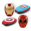 Super cool the avengers 6000mah power bank superman IronMan Captain America portable charger for iphone android phones