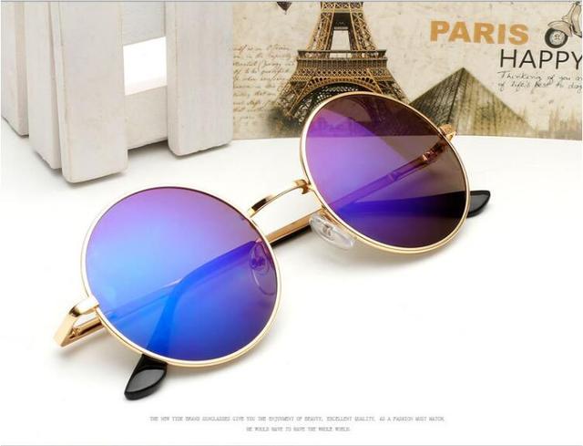 b0e835d8855ad Nova Mens Clássico pequenos Óculos Redondos steampunk Mulheres Pequeno  Espelho Retro Do Vintage John Lennon óculos