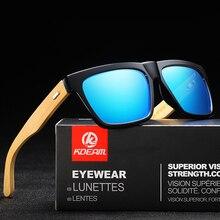 KDEAM Polarized Bamboo Legs Sunglasses Men Wooden Sun glasses Women Brand Original Wood Glasses Oculos de sol masculino