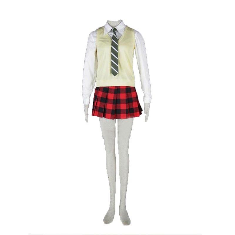images Maka Coat soul eater maka albarn cosplay costume top vest tie skirt coat 11