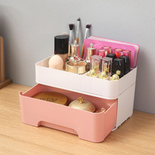 Drawer Type Storage Box Table Top Dressing Table Plastic Lipstick Shelves Lady Make Up Bag Cosmetic Bag Organizer 23*14.5*13cm water table three layers show gum shelves lipstick