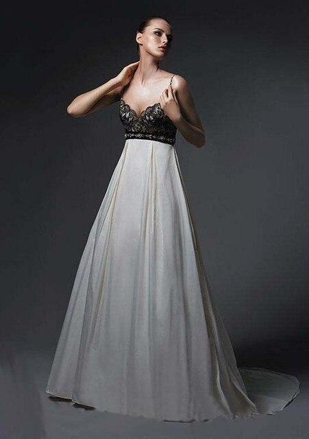 vintage negro y marfil vestidos de novia informales no recepción