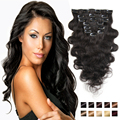 #1-#613 COlOR Clip In Human Hair Extensions Body Wave Soft Human Hair Clip On Extensions Natural Hair Clip Extensions Body Wave